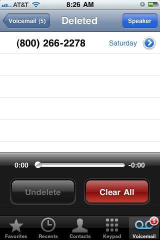 undelete voicemail iphone