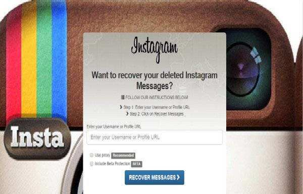 instagram direct message recovery
