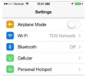 how to use iphone airplane mode