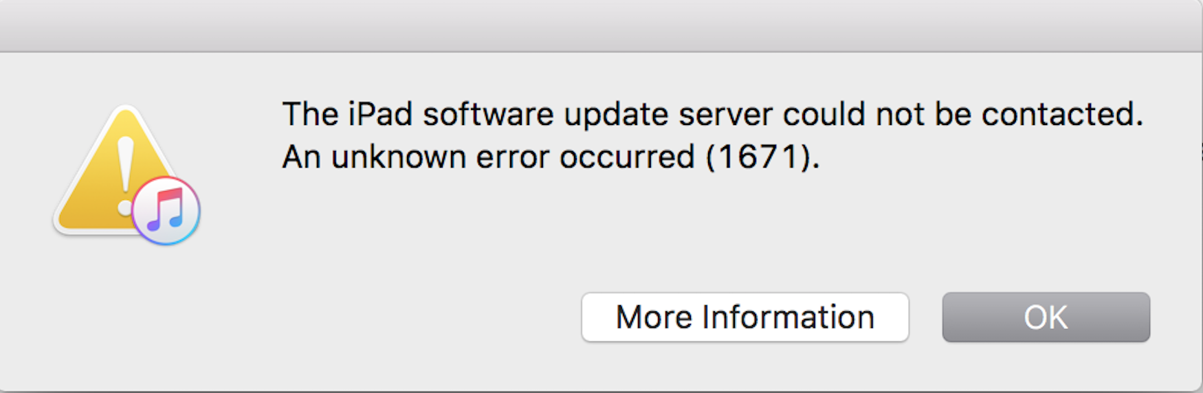 fix itunes 1671 error