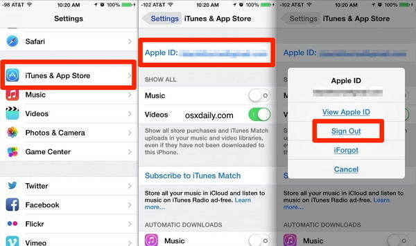 changing apple id
