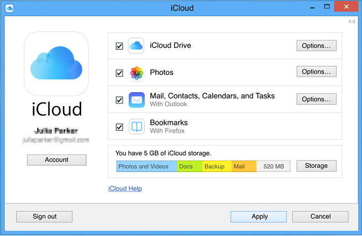download icloud backup to pc