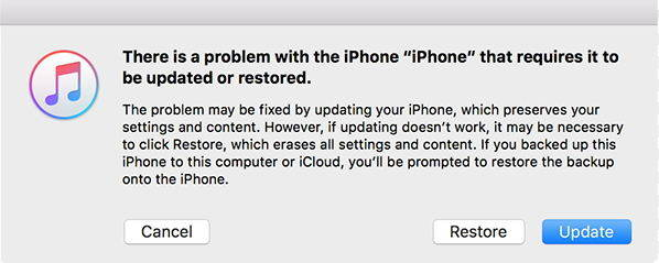 restore a disabled iphone