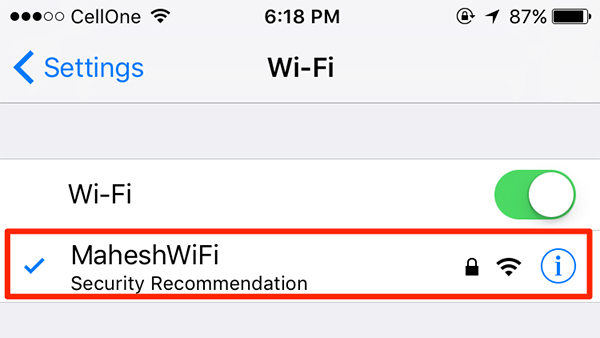 iphone wifi networks