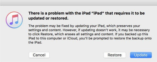 restore disabled ipad with itunes