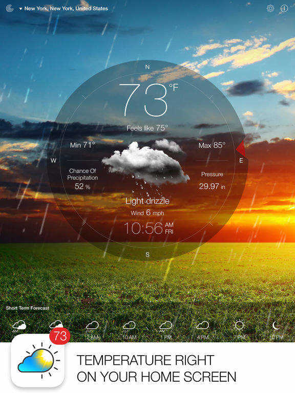 weather live app for ipad