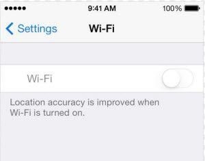 wifi not working after ios 7 after grade