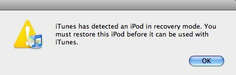 ipod in recovery mode