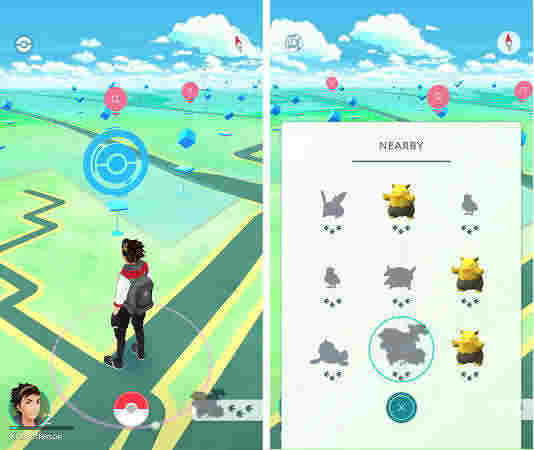 how to track and find nearby pokémon