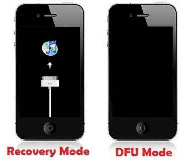 recovery mode and dfu mode