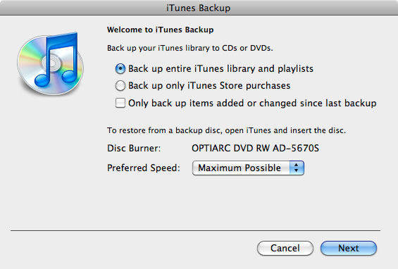 transfer itunes library