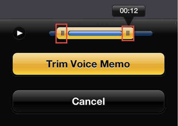 trim iphone 5s voice memo
