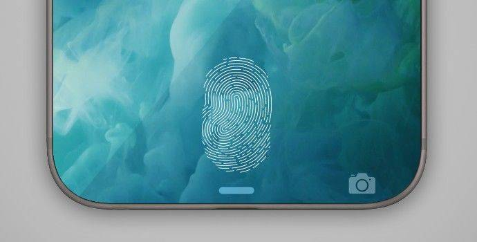 iPhone X, iPhone 8/8 Plus touch ID in screen