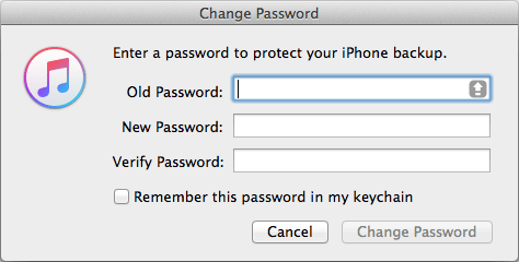 CHANGE ITUNES PASSWORD