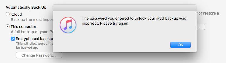 пароль неправильный