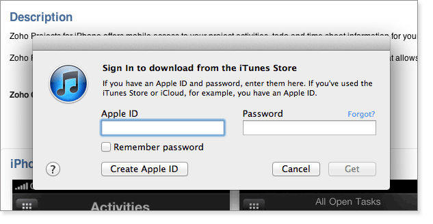 sign in to itunes