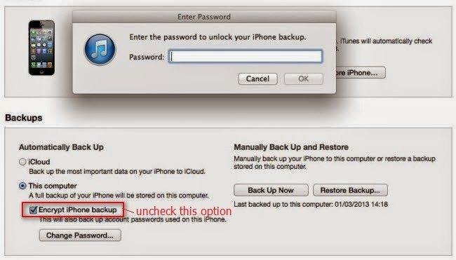 how to decrypt iphone backup in itunes
