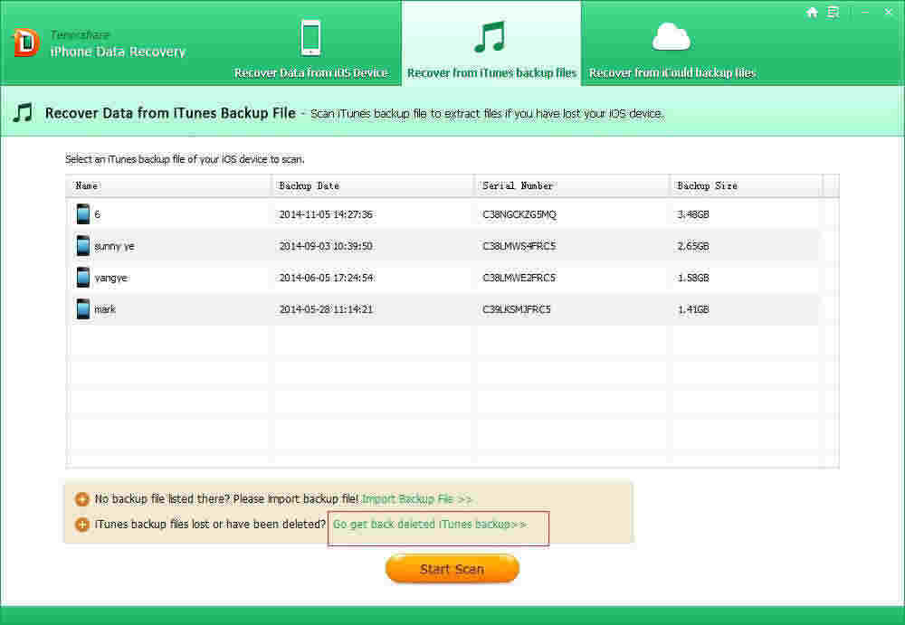 how to recover deleted itunes backup