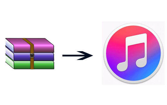 add zip to itunes