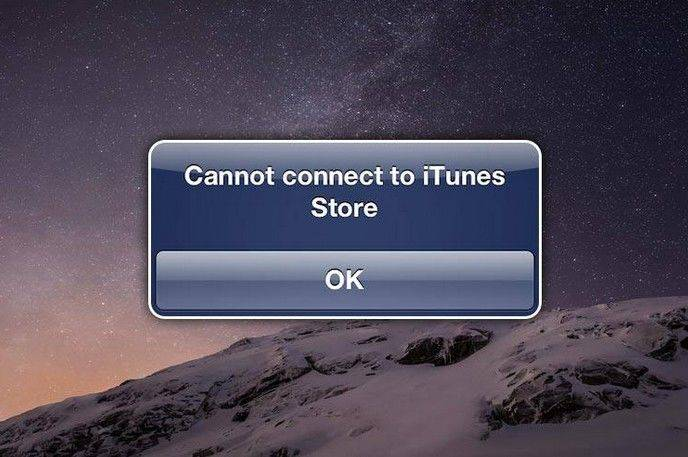 cannot connect to itunes store come picture