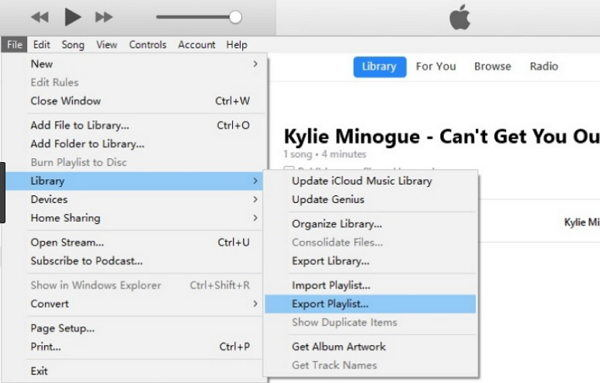 export itunes playlists to new computer