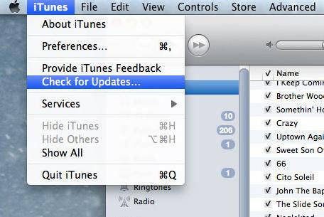 itunes check for update mac