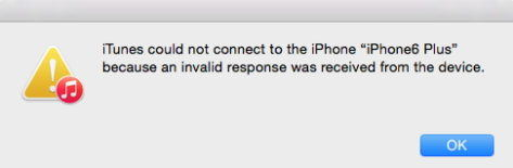 fix itunes invalid response error