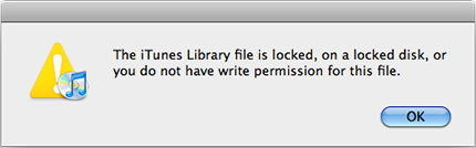 fix itunes library.itl file is locked