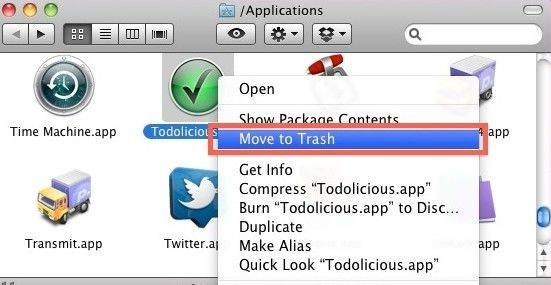 move to trash