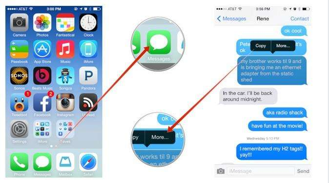 clear imessage chat history on iphone, ipad and ipod