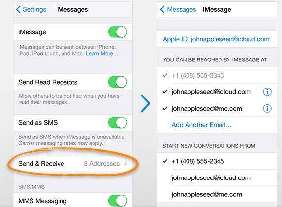 set up imessage on iphone