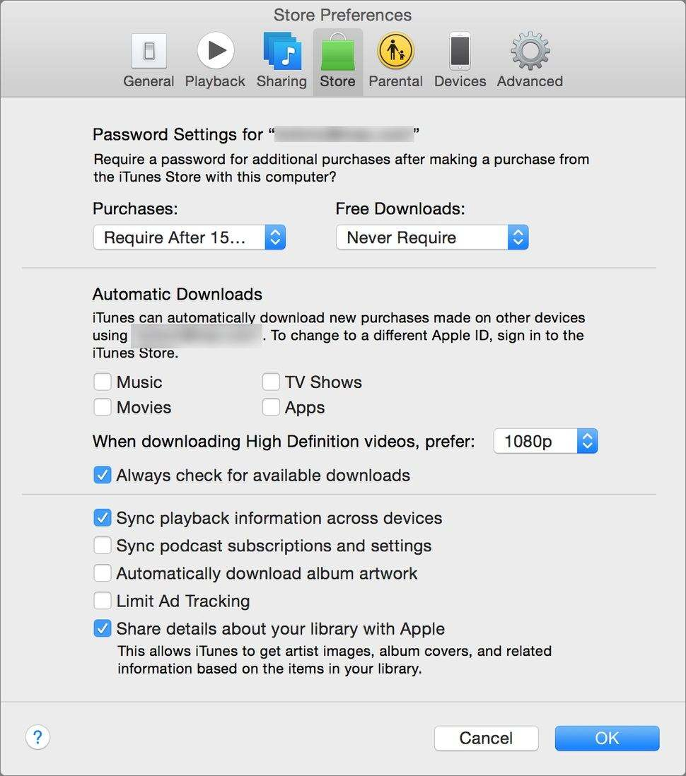 stop itunes automatically download