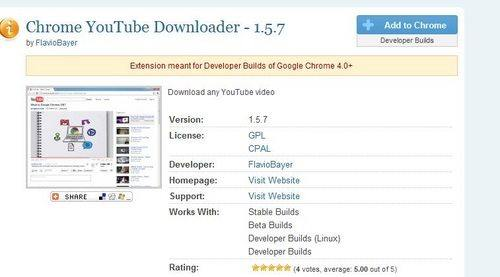 youtube downloader for chrome