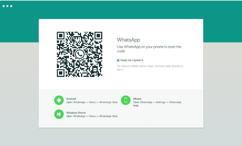 scan the QR code using the mobile app
