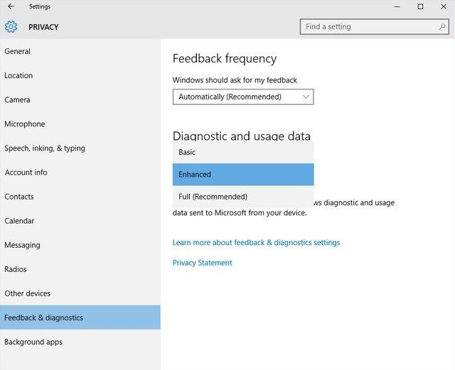 disable telemetry collection on windows 10 enterprise