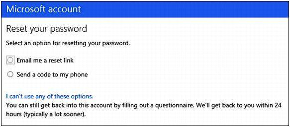 Microsoft account password