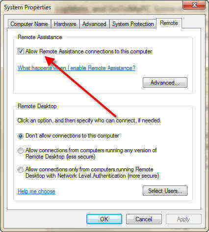how to set up remote desktop connection