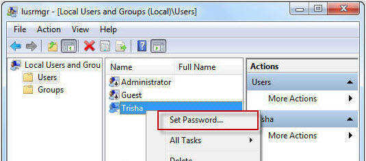 windows 8 password recovery command