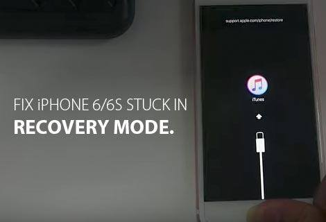 Fix iPhone 6/6S Stuck in Recovery Mode.